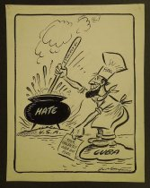 Image of Castro stirs boiling pot - Hungerford, Cy, 1889?-1983